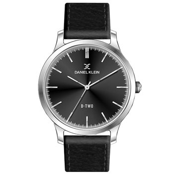 DANIEL KLEIN Mens Black Leather Strap