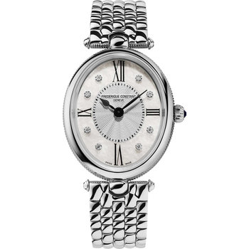 FREDERIQUE CONSTANT Classics Art Deco Diamonds Silver Stainless Steel Bracelet