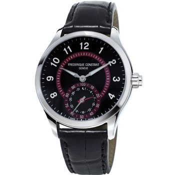 FREDERIQUE CONSTANT Horological Smartwatch Black Leather Strap