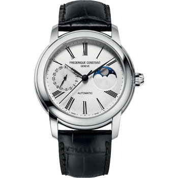 FREDERIQUE CONSTANT Classic Moonphase Manufacture Automatic Black Leather Strap