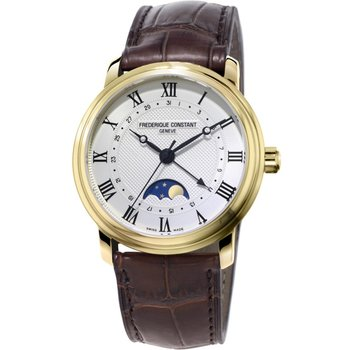 FREDERIQUE CONSTANT Automatic Brown Leather Strap