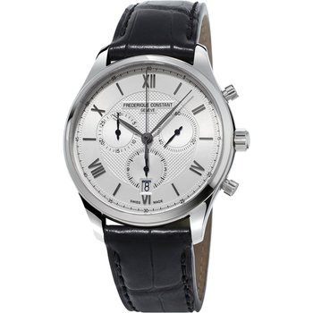 FREDERIQUE CONSTANT Classics Chronograph Black Leather Strap
