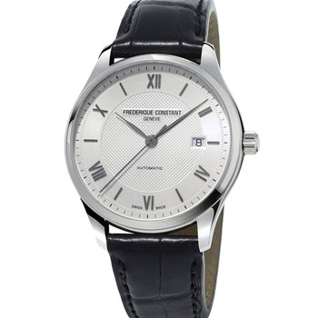 FREDERIQUE CONSTANT Classics Automatic Black Leather Strap