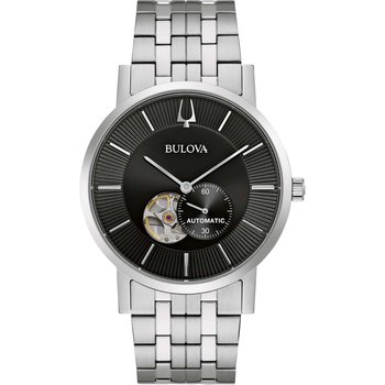BULOVA Mechanical Collection American Clipper Automatic Silver Stainless Steel Bracelet
