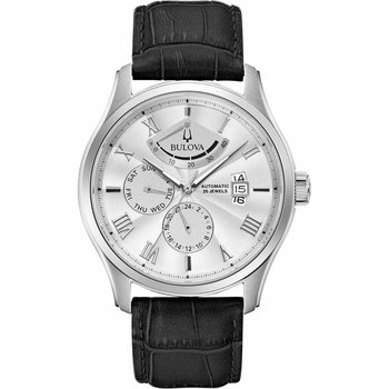 BULOVA Mechanical Collection Classic Wilton Automatic Black Leather Strap