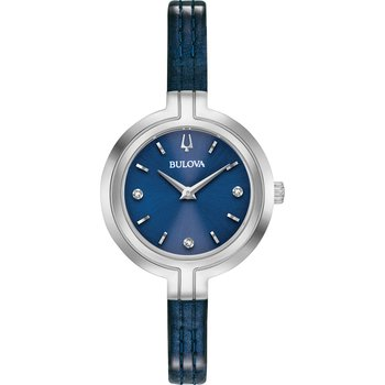 BULOVA Diamond Collection Rhapsody Blue Leather Strap