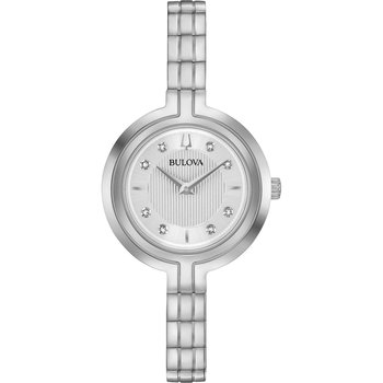 BULOVA Diamond Collection Rhapsody Silver Stainless Steel Bracelet