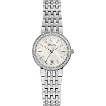 BULOVA Diamonds Silver Stainless Steel Bracelet