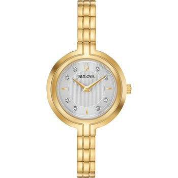 BULOVA Diamond Collection Rhapsody Gold Stainless Steel Bracelet