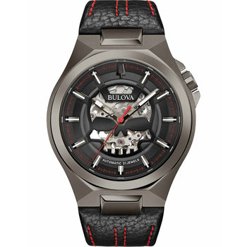 BULOVA Mechanical Collection Maquina Automatic Black Leather Strap