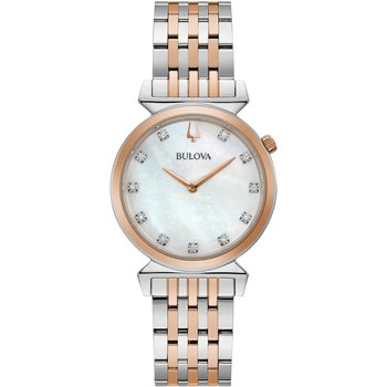 BULOVA Diamond Collection Regatta Two Tone Stainless Steel Bracelet