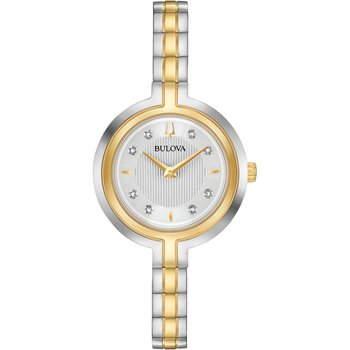 BULOVA Diamond Collection Rhapsody Two Tone Stainless Steel Bracelet