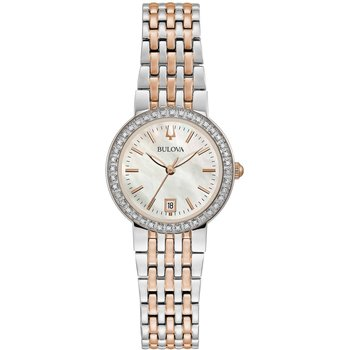 BULOVA Diamonds Two Tone Stainless Steel Bracelet