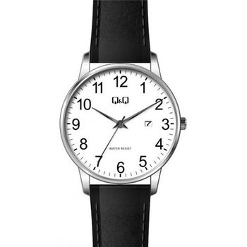 Q&Q Black Leather Strap