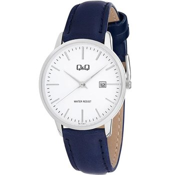 Q&Q Ladies Blue Leather Strap