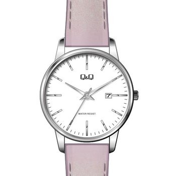 Q&Q Ladies Pink Leather Strap