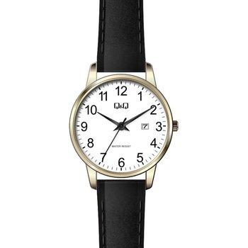 Q&Q Ladies Black Leather Strap