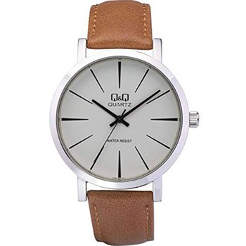 Q&Q Mens Brown Leather Strap