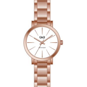 Q&Q Ladies Rose Gold Stainless Steel Bracelet
