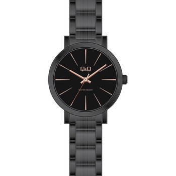 Q&Q Ladies Black Stainless Steel Bracelet