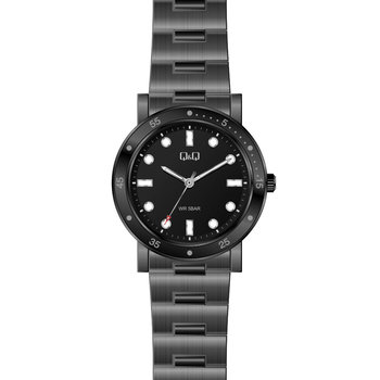 Q&Q Black Stainless Steel Bracelet
