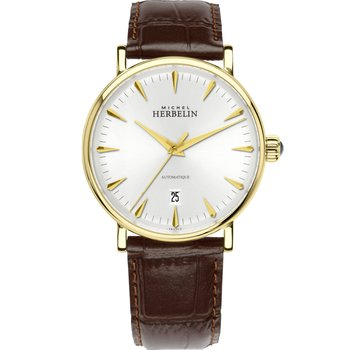MICHEL HERBELIN Inspiration Automatic Brown Leather Strap