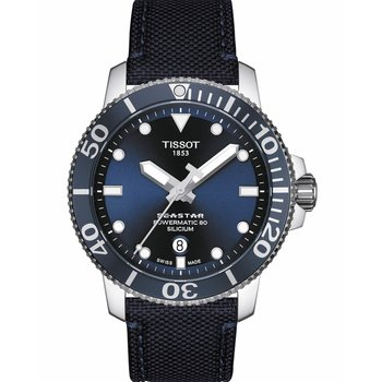 TISSOT Seastar 1000 Powermatic 80 Blue Fabric Strap