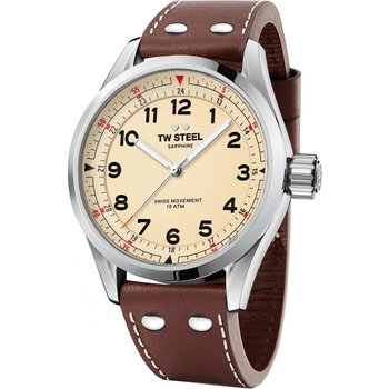 TW STEEL Swiss Volante Brown Leather Strap