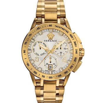VERSACE Sport Tech Chronograph Gold Stainless Steel Bracelet