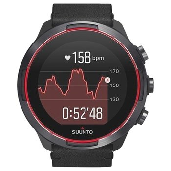SUUNTO 9 Baro Red with Black Leather Strap Gift Set