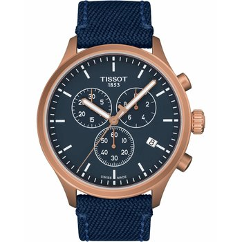 TISSOT T-Sport Chrono XL Chronograph Blue Fabric Strap