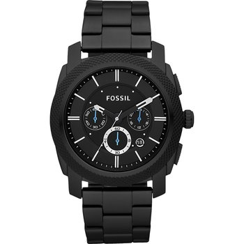 FOSSIL Machine Chronograph Black Stainless Steel Bracelet