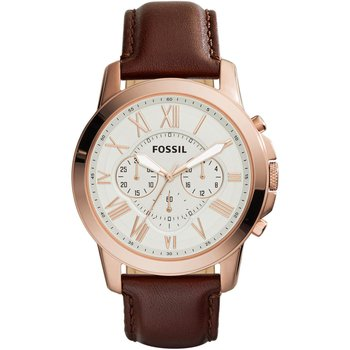 FOSSIL Grant Chronograph Brown Leather Strap