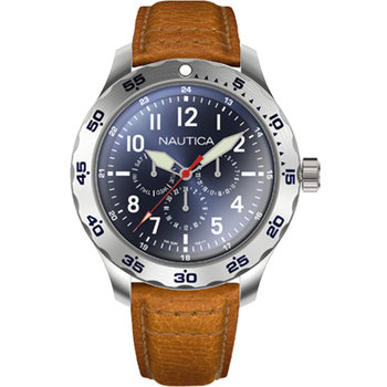 NAUTICA NCC01 Brown Leather Strap