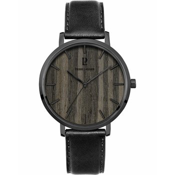 PIERRE LANNIER Nature Black Leather Strap