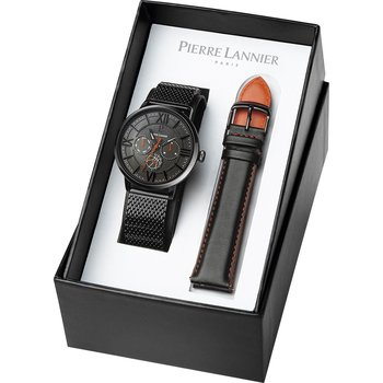 PIERRE LANNIER FFBB Black Stainless Steel Bracelet Gift Set