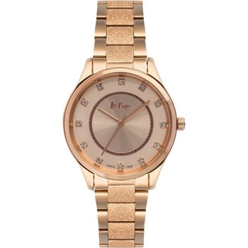 LEE COOPER Ladies Crystals Rose Gold Stainless Steel Bracelet