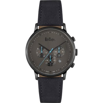 LEE COOPER Gents Dual Time Black Leather Strap