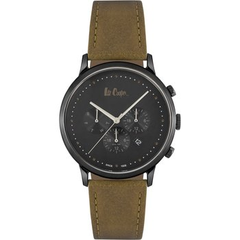 LEE COOPER Gents Dual Time Brown Leather Strap
