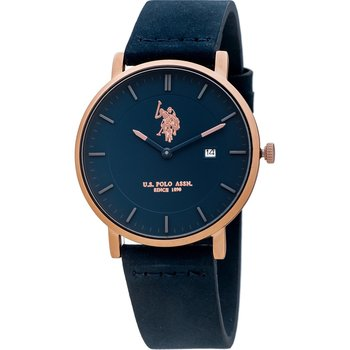 U.S. POLO Balthazar Blue Leather Strap