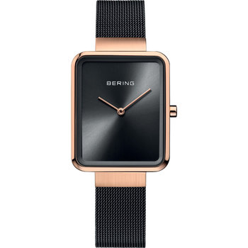 BERING Square Black Stainless Steel Bracelet