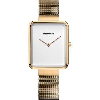 BERING Square Gold Stainless Steel Bracelet