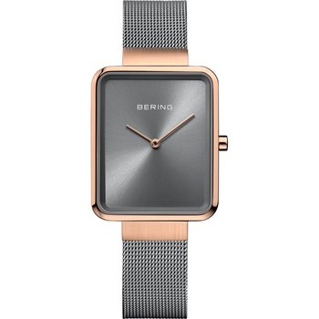 BERING Square Grey Stainless Steel Bracelet