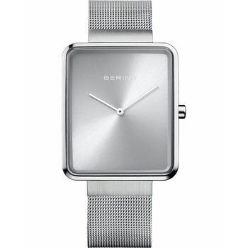 BERING Square Silver Stainless Steel Bracelet