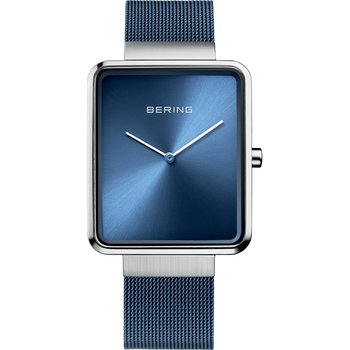 BERING Square Blue Stainless Steel Bracelet
