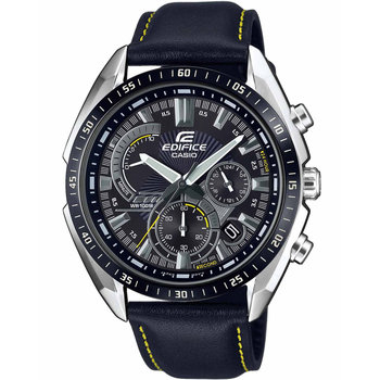 CASIO Edifice Chronograph Black Leather Strap