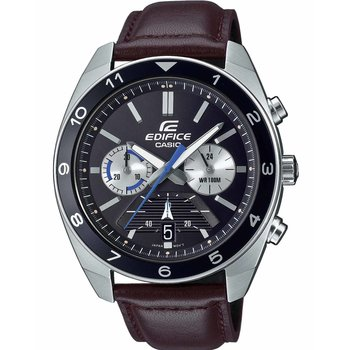 CASIO Edifice Chronograph Brown Leather Strap