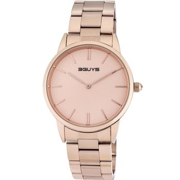 3GUYS Mens Rose Gold Stainless Steel Bracelet