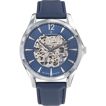 CERTUS Mens Blue Leather Strap