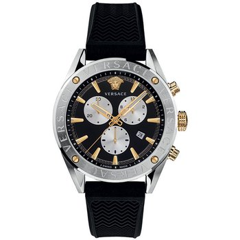 VERSACE V-Chrono Black Rubber